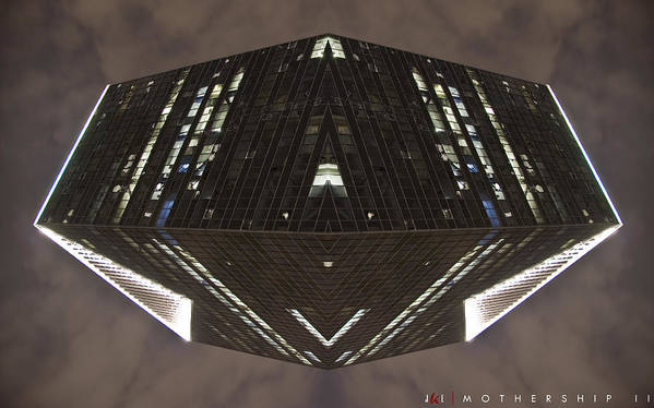 Abstract Poster featuring the photograph Mothership II by Jonathan Ellis Keys