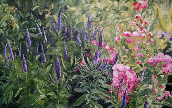 Konkol Poster featuring the painting Olbrich Garden Series - Garden 2 by Lisa Konkol