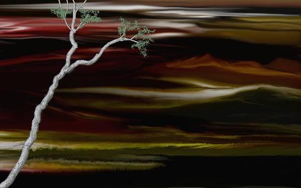 Digital Landscape Poster featuring the digital art Redscape by David Lane
