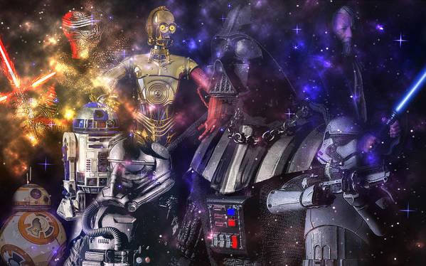 Star Wars Poster featuring the photograph Star Wars Compilation by Larry Helms