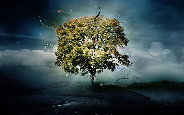 Tree Poster featuring the digital art Tree Of Hope by Mary Hood