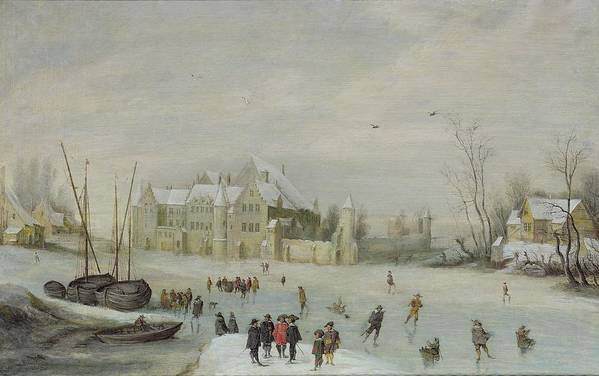 Winter Poster featuring the painting Winter Landscape by Barent Avercamp