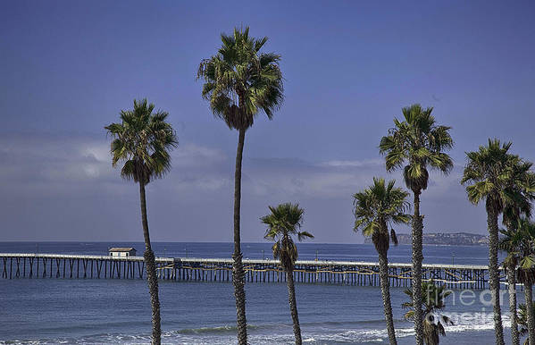 San Clemente Pier Poster featuring the photograph San Clemente Pier by Joenne Hartley