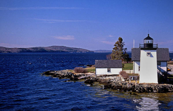 Grindel Point Poster featuring the photograph Grindel Point Lighthouse by Skip Willits