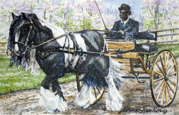 Equine Poster featuring the painting Pleasure Driving by Denise Horne-Kaplan