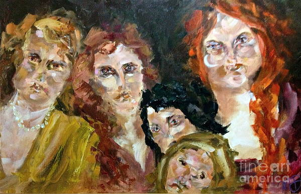 Women Poster featuring the painting The Redheaded Step Child by Michelle Dommer