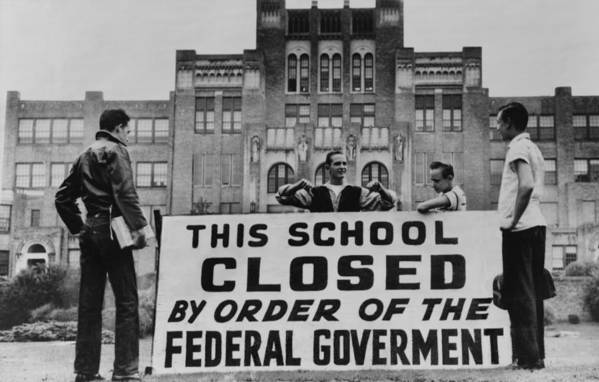 History Poster featuring the photograph Little Rock Central High Was Closed by Everett