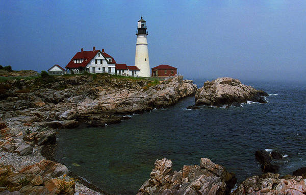 America Poster featuring the photograph Lighthouse - Portland Head Maine by Frank Romeo