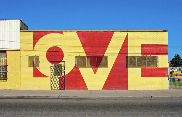 Detroit Poster featuring the photograph Love Store Front by David Kyte