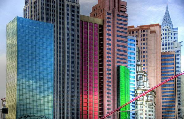 New York Poster featuring the photograph New York-new York - Las Vegas by Neil Doren