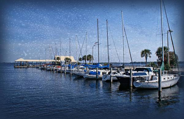 Sailboats Poster featuring the photograph Sailboats by Sandy Keeton