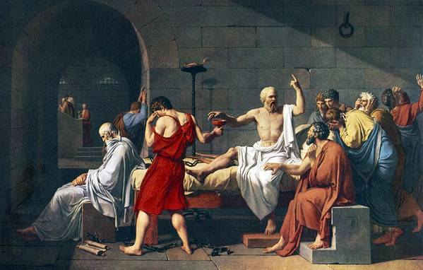 The Death Of Socrates Poster featuring the photograph The Death Of Socrates, 1787 Artwork by Sheila Terry