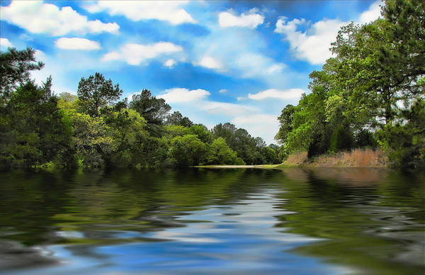Landscape Poster featuring the photograph What I Remember About That Day On The River by Wendy J St Christopher