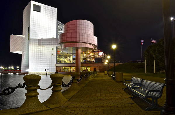 Rock Poster featuring the photograph Rock N Roll Hall Of Fame by Frozen in Time Fine Art Photography