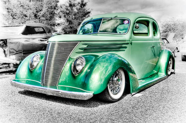 Ford Coupe Poster featuring the photograph 1937 Ford Coupe by Phil 'motography' Clark