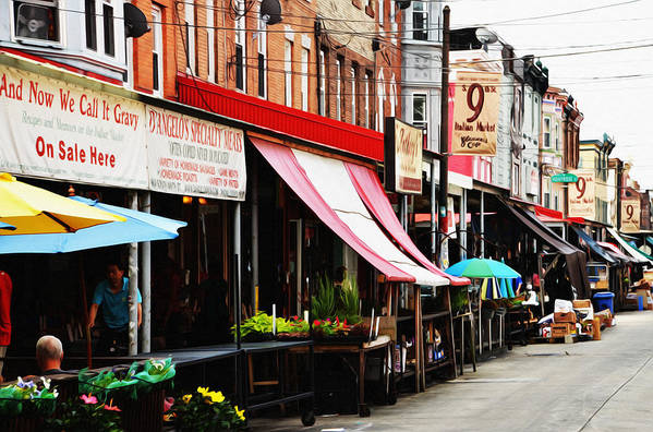 9th Poster featuring the photograph 9th Street Italian Market Philadelphia by Bill Cannon