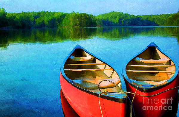 Virginia Poster featuring the photograph A Day On The Lake by Darren Fisher