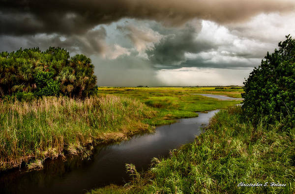 Christopher Holmes Photography Poster featuring the photograph A Glow On The Marsh by Christopher Holmes