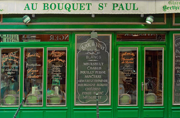 French Cafe Poster featuring the photograph Au Bouquet St. Paul by Matthew Bamberg