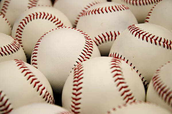 Baseball Poster featuring the photograph Baseballs II by Ricky Barnard