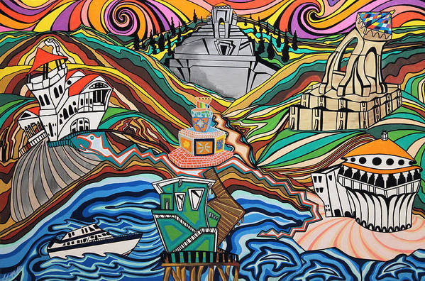 Painting Poster featuring the painting Beyond The Sea by Carlos Martinez