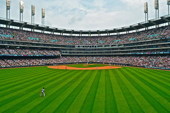 Centerfield Poster featuring the photograph Center Field by Frozen in Time Fine Art Photography