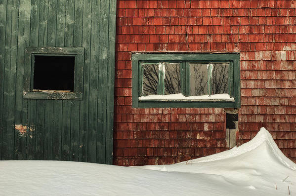 Barn Poster featuring the photograph Drifted In by Susan Capuano