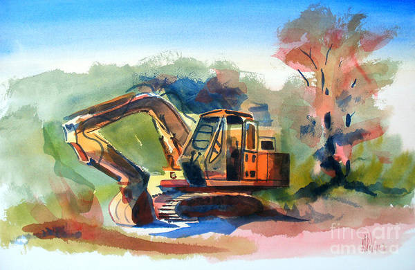 Duty Dozer Poster featuring the painting Duty Dozer by Kip DeVore