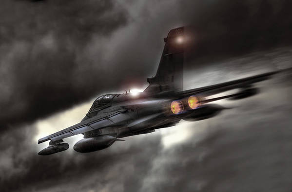 Panavia Poster featuring the digital art Night Strike Tornado by Peter Chilelli