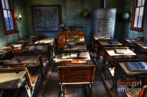 School Poster featuring the photograph One Room School House by Bob Christopher