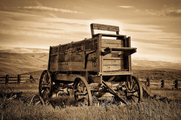 Covered Wagon Poster featuring the photograph Rustic Covered Wagon by Athena Mckinzie