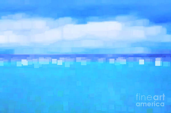 Abstract Poster featuring the photograph Sea And Sky Abstract by Natalie Kinnear