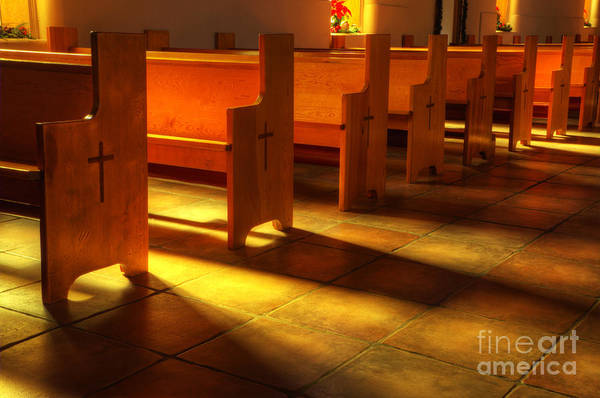 Church Poster featuring the photograph St Francis De Paula Shadow And Light by Bob Christopher