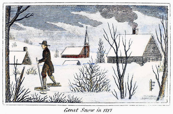 1717 Poster featuring the photograph Great Snow Of 1717 by Granger