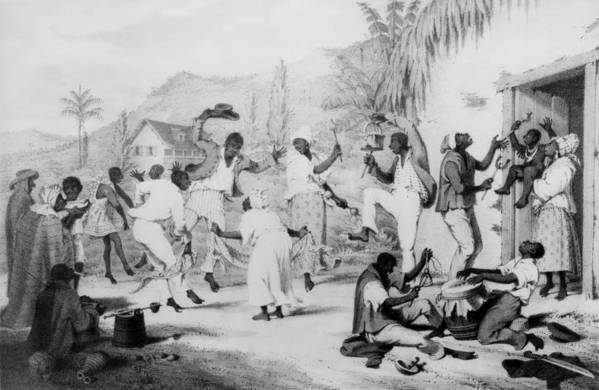History Poster featuring the photograph Afro-caribbean Slaves Dancing by Everett