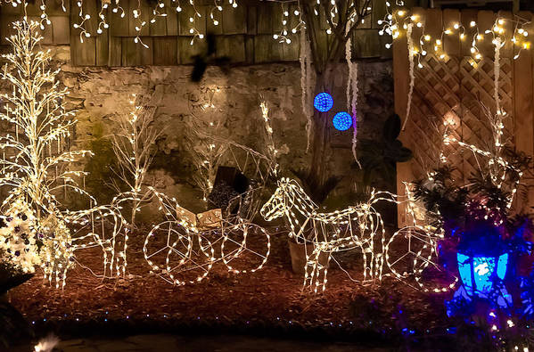 Christmas Poster featuring the photograph Christmas Carriages by DigiArt Diaries by Vicky B Fuller