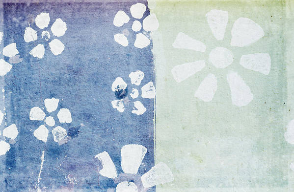Abstract Poster featuring the painting Floral Pattern On Old Grunge Paper by Setsiri Silapasuwanchai