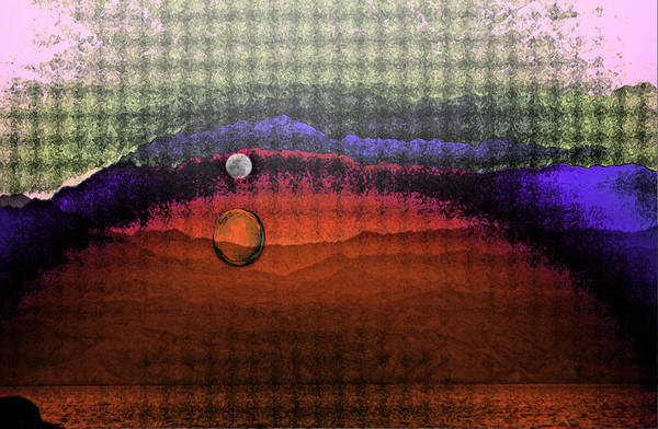 Abstract Art Poster featuring the mixed media Moon Gate by Jenn Bodro