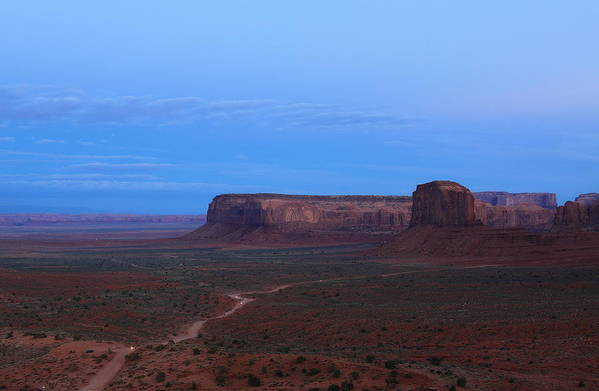 Night At Monument Valley Poster featuring the photograph Night At Monument Valley by Viktor Savchenko