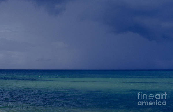 Ocean Poster featuring the photograph The Weather Is Changing by Heiko Koehrer-Wagner