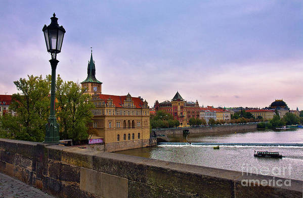 Charles Bridge Poster featuring the photograph View From The Charles Bridge Revisited by Madeline Ellis