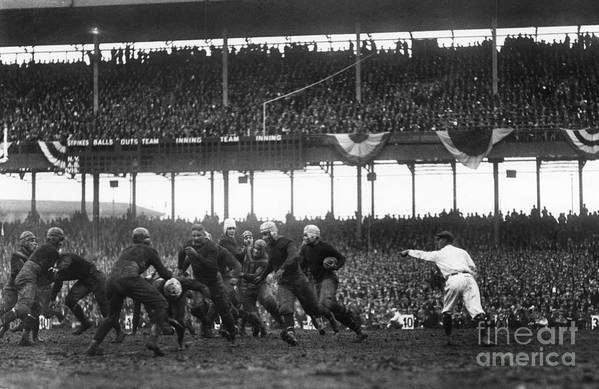 1925 Poster featuring the photograph Football Game, 1925 by Granger