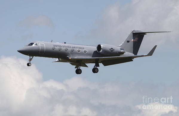 Plane Poster featuring the photograph A Gulfstream C-20h Executive Transport by Timm Ziegenthaler