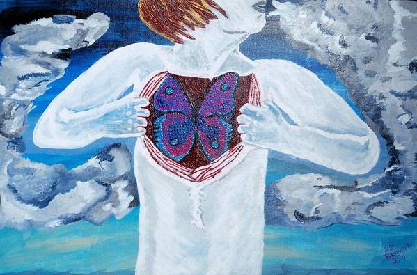 Surreal Poster featuring the painting Breathe Deep by Lisa Brandel