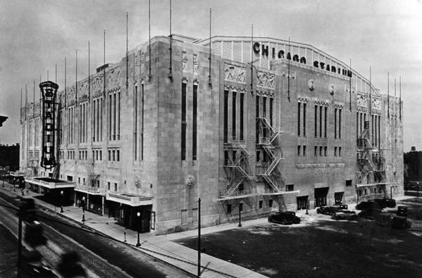 1930s Candid Poster featuring the photograph Chicago Stadium, Chicago, Illinois by Everett