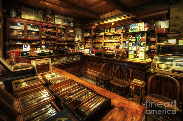 Art Poster featuring the photograph Cigar Shop by Yhun Suarez