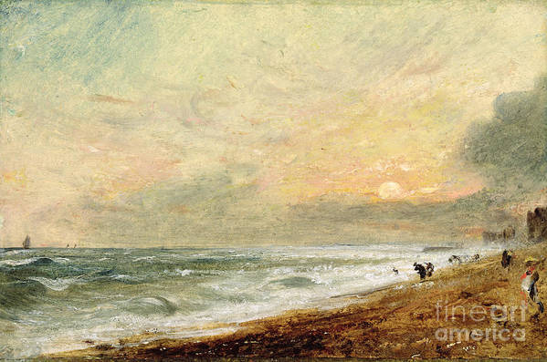 Xyc174465 Poster featuring the photograph Hove Beach by John Constable
