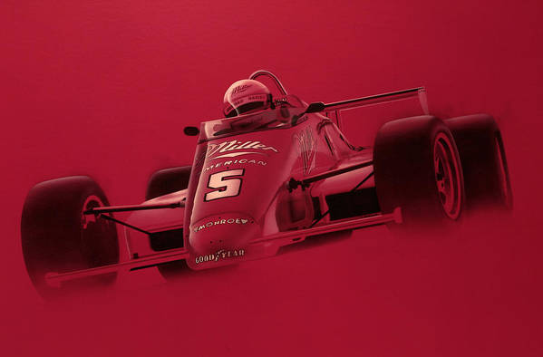 Indy Car Poster featuring the painting Indy Racing by Jeff Mueller