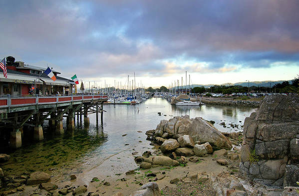 monterey Bay Poster featuring the photograph Monterey Harbor - Old Fishermans Wharf - California by Brendan Reals