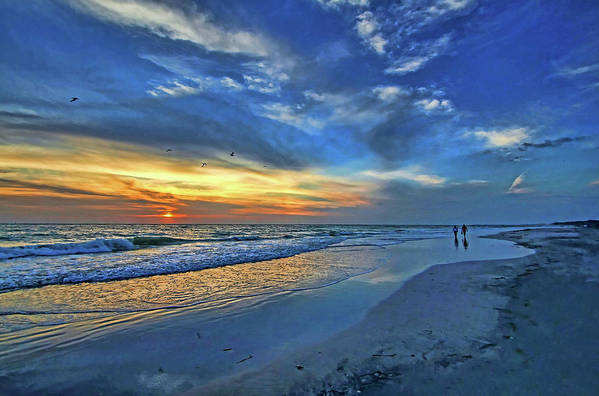 Gulf Of Mexico Poster featuring the photograph Moody Blues by HH Photography of Florida